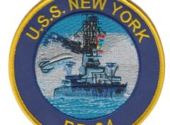 USS New York BB-34 Patch – Plastic Backing