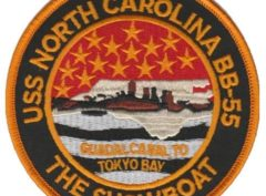 USS North Carolina BB-55 Patch – Plastic Backing