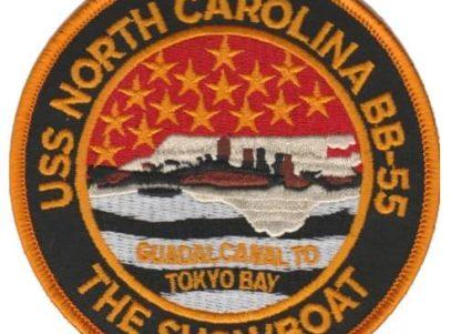 USS North Carolina BB-55 Patch – Plastic Backing