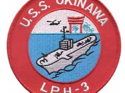 USS Okinawa LPH-3 Patch – Plastic Backing