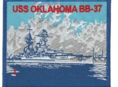 USS Oklahoma BB-37 Patch – Plastic Backing