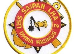 USS Saipan LAH-2 Patch – Plastic Backing