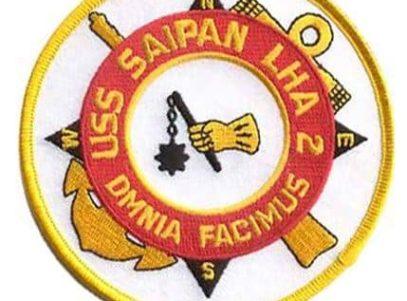 USS Saipan LAH-2 Patch – Plastic Backing