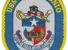 USS San Antonio LPD-17 Patch – Plastic Backing