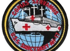 USS Sanctuary AH-17 Patch – Plastic Backing