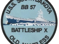 USS South Dakota BB-57 Patch – Plastic Backing