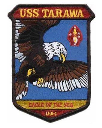 USS Tarawa LHA-1 Patch – Plastic Backing