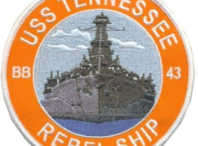 USS Tennessee BB-43 Patch – Plastic Backing