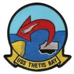 USS Thetis Bay LPH-6 Patch – Plastic Backing