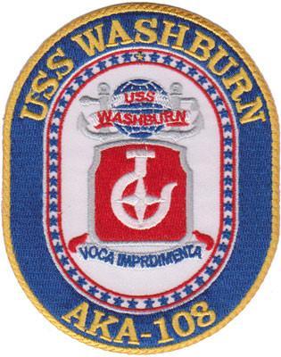 USS Washburn AKA-108 – Plastic Backing