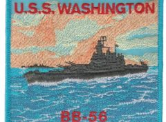 USS Washington BB-56 – Plastic Backing