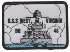 USS West Virginia BB-48 – Plastic Backing