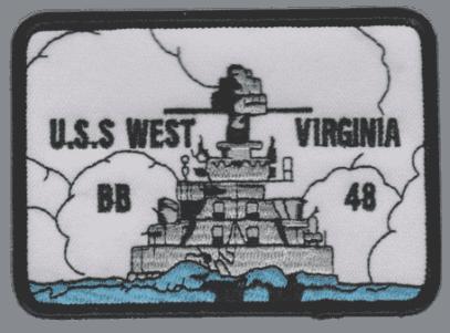 USS West Virginia BB-48 – Plastic Backing