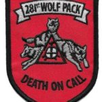 281st Wolf Pack Patch – Plastic Backing