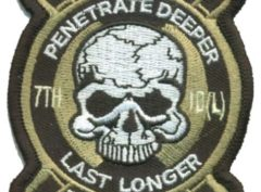 7th ID Recon Patch – Plastic Backing
