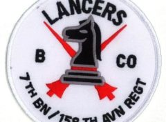 B 7/158th Aviation Regiment Lancers Patch – Plastic Backing