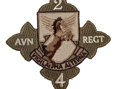 US Army 2nd Bn 4th AVN Regiment Patch – Plastic Backing