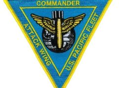 US Navy Commander-Pacific Fleet Attack Wing Patch – Plastic Backing