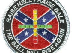 Raise Hell, Praise Dale Carrier Qual Patch – Plastic Backing