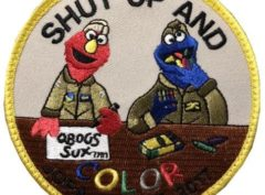 Shut Up and Color Patch – Plastic Backing