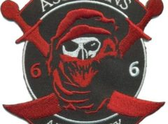 US Army 6/6 Air Cav Assassins Patch – Plastic Backing