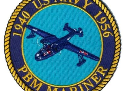 US Navy PBM Mariner Patch – Plastic Backing