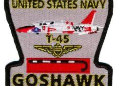 US Navy T-45 Goshawk Patch – Plastic Backing
