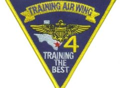US Navy Training Wing-4 Full Color Patch – Plastic Backing