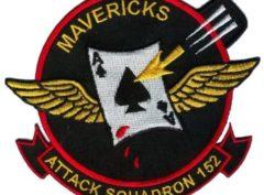 VA-152 Mavericks Squadron Patch – Plastic Backing