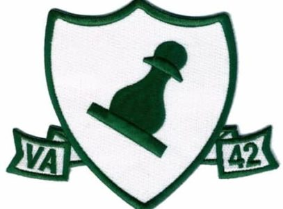 VA-42 Green Pawns Squadron Patch – Plastic Backing