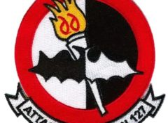 VA-127 Batmen Squadron Patch – Plastic Backing