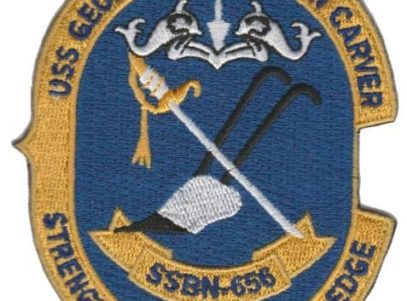 USS George Washington Carver SSBN-656 – Plastic Backing