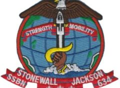 USS Stonewall Jackson SSBN-634 – Plastic Backing