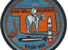 USS Will Rogers SSBN-659 – Plastic Backing