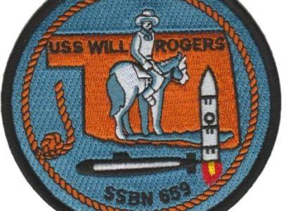 USS Will Rogers SSBN-659 – Plastic Backing