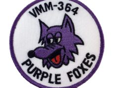 VMM-364 Purple Foxes (White Background) Squadron Patch – Sew On
