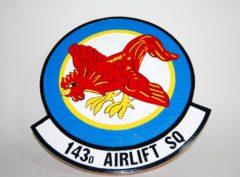 143d Airlift Squadron Plaque