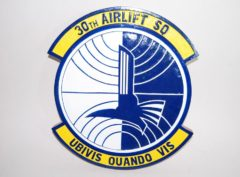 30th Airlift Squadron Plaque