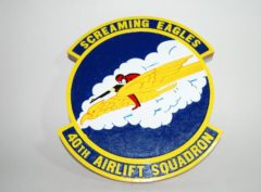 40th Airlift Squadron Plaque