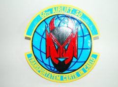 50th Airlift Squadron Plaque