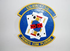 53d Airlift Squadron Plaque