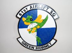 61st Airlift Squadron Plaque