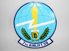 7th Airlift Squadron Plaque