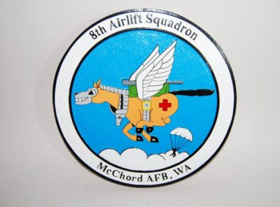 8th Airlift Squadron Plaque