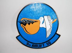9th Airlift Squadron Plaque
