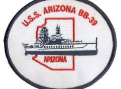 USS Arizona BB-39 Patch – Sew On