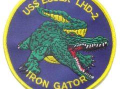 USS Essex Gator Patch – Sew On