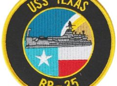 USS Texas BB-35 Patch – Sew On