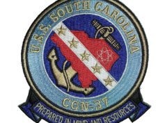 U.S.S. SOUTH CAROLINA CGN-37 Patch – Sew On
