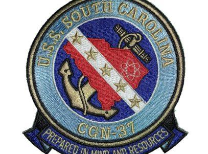 U.S.S. SOUTH CAROLINA CGN-37 Patch – Sew On